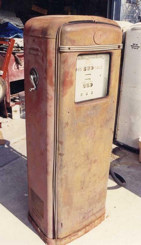 Vintage Restorations - Restorations - Gilbarco Gas Pump - Before