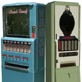 Antique Classic Vintage Candy Vending Machines