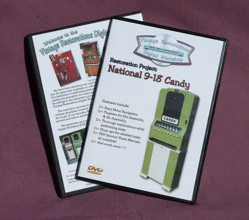 Vintage Restorations Digital Workshop DVD Tutorial: National 9-18 Candy Vendor