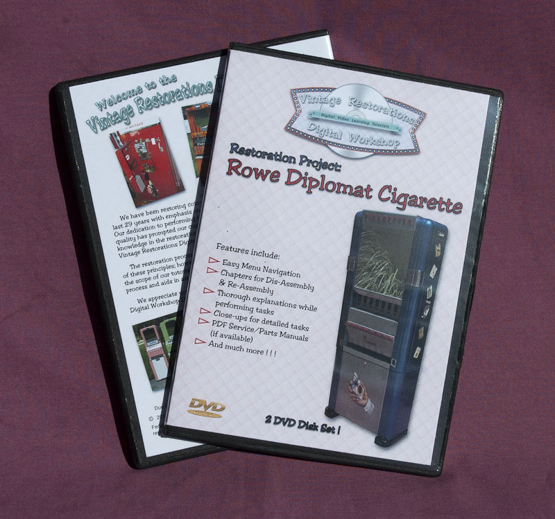 Vintage Restorations Digital Workshop DVD Tutorial: Rowe Diplomat Cigarette Vendor