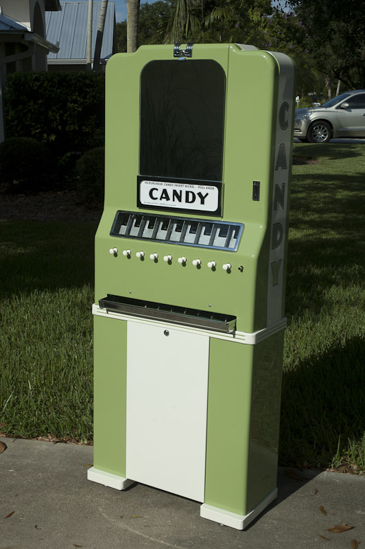 Vintage National 9 Selection Candy Machine
