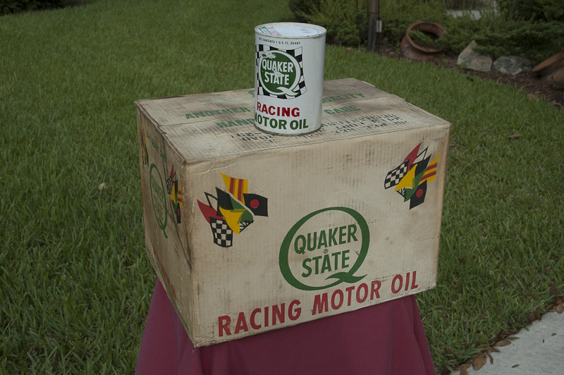 1965 NOS Quaker State Racing Oil - Unopened Case!