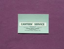 Canteen Address, Message and Service Card