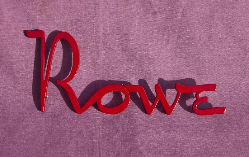 Rowe Vendor Logo - Gloss Red